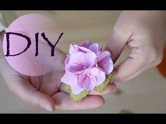 Гортензия из фоамирана 2 вариант сборки /Hydrangea of foamiran 2 assembly option - YouTube