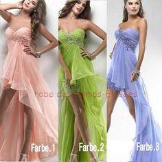 Neu-3-Farbe-Abendkleid-Ballkleid-Hochzeitskleid-Cocktailkleid32-34-36-38-40-42
