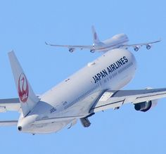 Japan Airlines Boeing 767-346/ER departing with Japanese Air Force One