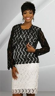 Style : SA78464-BW-IH Sizes : 6 8 10 12 14 16 18 20  Colors : Black With White ( 2pc Lace Stacy Adams Designer Womens Jacket Dress ) Regular Price : $272 Our Price : $222