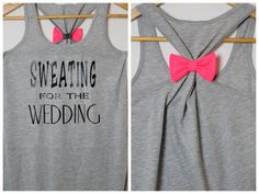 Sweating for the Wedding Bow Tank Top by personTen on Etsy, $30.00