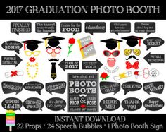 Graduation Photo Booth Props Collection 2017  Printable
