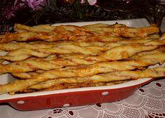 Sýrové tyčinky z listového těsta recept - TopRecepty.cz Chicken, Meat, Food, Essen, Meals, Yemek, Eten, Cubs