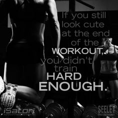 When in the gym, working hard is not an option but a must!
