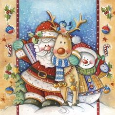 Santa+Deer+Snowman+Snuggle