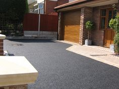 Tarmac driveways Doncaster for over 20 years. Contact our team today Resin Driveway, Driveway Paving, Stone Driveway, Driveway Design, Concrete Driveways, Driveway Landscaping, Concrete Patio, Landscaping Ideas, Back Garden Design