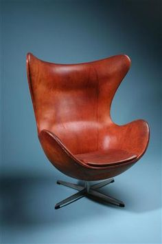 The Egg is a chair designed by Arne Jacobsen in 1958 for the Radisson SAS hotel in Copenhagen, Denmark. It is manufactured by Republic of Fritz Hansen.