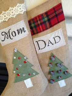 Burlap stocking Christmas tree stocking Mr & by LovelyLittleBabies, $38.00 Christmas Items, All Things Christmas, Christmas Tree, Stocking Ideas, Stocking Tree, Burlap Stockings, Christmas Stockings, Jingle All The Way, Holiday Decorations
