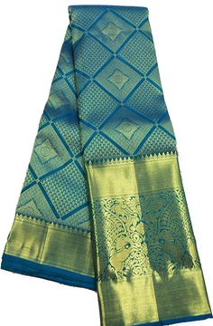 Shop online for  Blue Handloom Kanjeevaram Silk   Saree