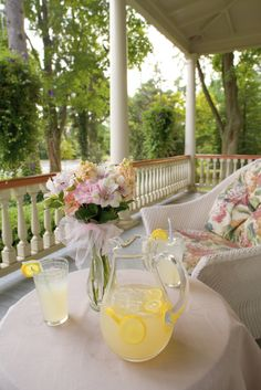 lemonade on a Southern front porch