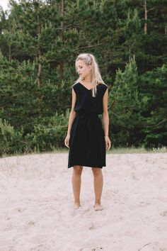 Etsy Summer linen dress/ V neck linen dress / Summer dress / Linen dress / Linen sundress/ Maxi dress/ Sw