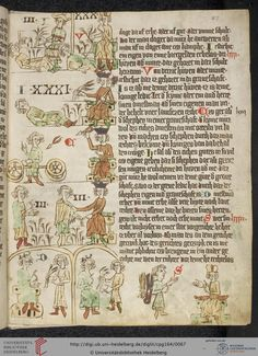 Heidelberger Sachsenspiegel landrecht 027r Uni Heidelberg, Law Books, Plantagenet, Medieval Manuscript, 14th Century, Middle Ages, Art Boards, Illustration, Vintage World Maps