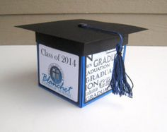 Square Explosion Box Patterns | Custom Personalized Graduation Exploding Box Card - Square - Made to ...