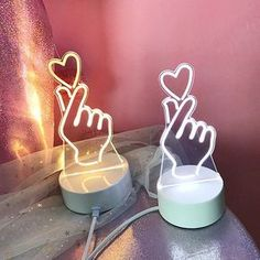 Korean Heart Fingers LED Light Color Modes) Material:+Plastic (Please+peel+off+protective+cover+on+LED+top+prior+to+using.