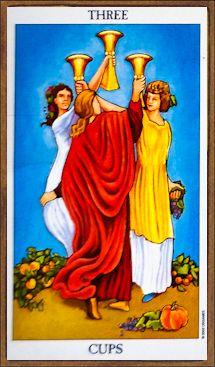 Three of Cups - Tarot Card Meaning & Interpretation