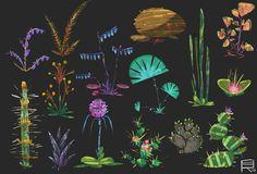 Plants sheets, Romwald Bogun on ArtStation at https://www.artstation.com/artwork/plants-sheets