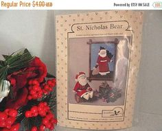 Sewing Crafts Pattern St. Nicholas Bear Christmas Santa Doll