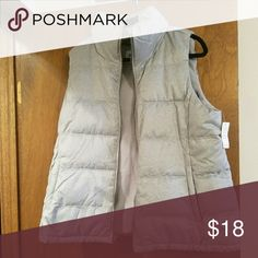 New Old Navy Puffer Vest XL New with tags gray puffer vest.  Fleece lined. Old Navy Jackets & Coats Vests