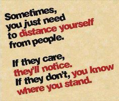 I've learned where I stand