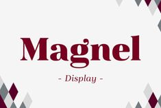 Magnel Display free demo is a part of font family of display Didone of four weights plus italics. The defining stylistic features /Volumes/Marketing/_MOM/Design Freebies/Free Design Resources/Magnel Display Black