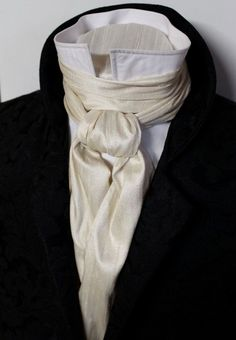 victorian ascot tie cravat -for the groom, in ivory or Vera Wang champagne Mode Masculine, Victorian Fashion, Vintage Fashion, How To Have Style, Ascot Ties, Historical Clothing, Costume Design, Mens Fashion, Fashion Trends