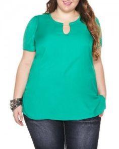 Blusas verdes para gorditas 4