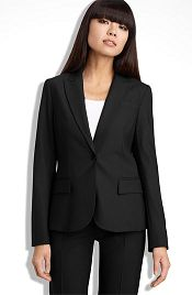 Theory suits are loved by women with a straight figure — but they can be problematic for curvier women, who tend to prefer Ann Taylor or Tahari lines.