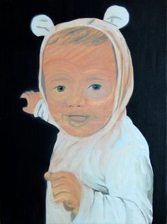 "Saatchi Online Artist: Benjamin Bridges; Oil, 2013, Painting ""A Bear Called Boy"""