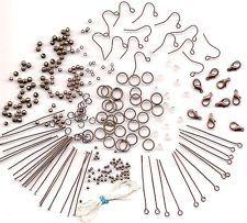 1000 COPPER Jewelry Wholesale Lot Making Lobster Beads Earring Hook Supplies Kit