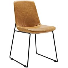The Estell Dining Chair in Tan is the ultimate addition to your office waiting area or for a side dining table! Made with finely stitched faux leather and a black matte coated steel frame, this chair combines only the best quality and beauty with an...