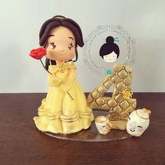 """151 curtidas, 2 comentários - Karina Ishida Biscuit (@karinaishida_biscuit) no Instagram: """"Princesa Bela #princesabela #princesas #princesasdisney #topodebolo #velapersonalizada #biscuit…"""""""
