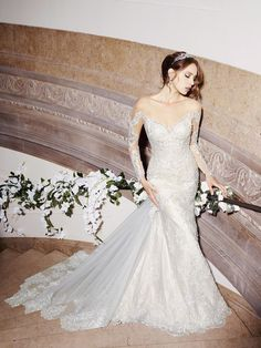 2016 Illusion Bodice Long Sleeve Wedding Dresses With Jewel Collar Applique Lace Wedding Gowns Court Train Detachable Custom Made Short White Wedding Dresses Wedding Collection From Liuliu8899, $222.52| Dhgate.Com