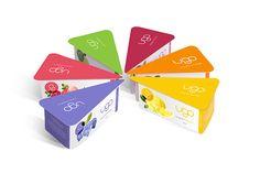 """ugo"" yogurt packaging design by chenchen hu, via Behance"