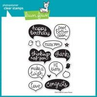 Lawn Fawn Clear Stamp - Chit Chat | MarkerPOP.com