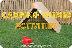This would be great for the Tenderhearts to do before a family camp-out! Get your kids outdoors with these inventive Camping Themed Kids Activities via Ward Ward Sheakoski ::Coffee Cups and Crayons Preschool Summer Camp, Summer Camp Themes, Summer Activities, Preschool Activities, Summer Fun, Preschool Camping Activities, Outdoor Activities, Summer School, Family Activities