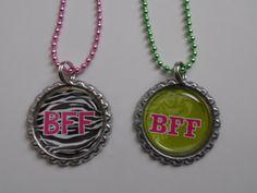 BFF Bottle cap Necklaces