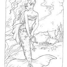 princess mermaid color sheets Sara coloring page My Style