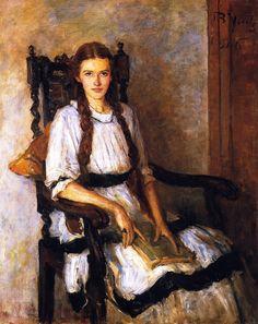 Mary Lapsley Caughey -- 1916 -- John Butler Yeats -- Irish -- -- Oil on canvas -- National Gallery of Ireland Louis Aragon, People Reading, Victorian Paintings, Irish Art, Oil Painting Reproductions, Lovers Art, Art Blog, Great Artists, Female Art