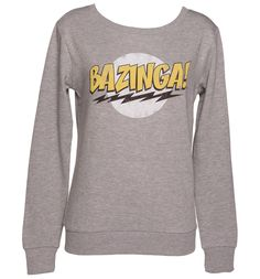 Grey Ladies Big Bang Theory #Bazinga Sweater from TruffleShuffle xoxo