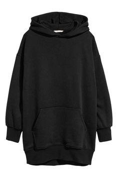 Bluza oversize z kapturem - Czarny - ONA   H&M PL