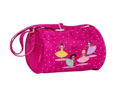 Horizon Dance Bravo Pink Dance Bag for Girls: A small pink dance bag with a lovely print of four dancers, hearts and stars on one side. Fully lined in pink. Pink Duffle Bag, Duffel Bags, Little Girl Ballerina, Toddler Ballet, Ballet Bag, Toddler Backpack, Small Tote Bags, Up Shoes, Kids Bags