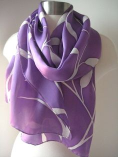 Hand Painted Silk Scarf from Joyinmystudio