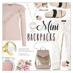 """Mini Backpacks ~ Urban Carats Jewelry #9"" by alexandrazeres ❤ liked on Polyvore featuring Topshop, New Look, Hollister Co., Loeffler Randall and Forever 21"