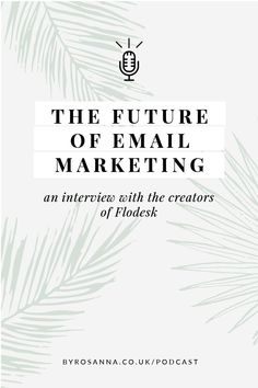 In my latest podcast episode I interviewed the creators of Flodesk, my favourite new email marketing tool to talk about their journey to bringing it to life and the future of using email in business #emailmarketing #flodesk #emailmarketingwithflodesk Business Coaching, Business Entrepreneur, Business Tips, Online Business, Email Marketing Tools, Content Marketing, Social Media Marketing, Digital Marketing, Creative Business