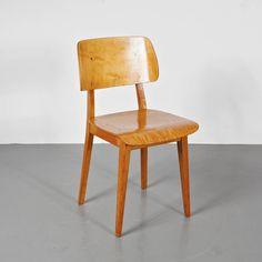 Rare Cees Braakman First Edition Chair, circa 1950