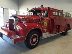 us Wyndmoor,PA Hose Co#1 MACK B Rescue 1958 (re-acquired, recovered to pristine condition in 2015 and currently preserved by the FD)
