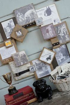 *Rook No. 17: recipes, crafts & creative nesting*: CANVAS COLLAGE WREATH -- AN HEIRLOOM DIY