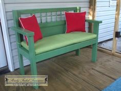Headboard Bench build | Do It Yourself Home Projects from Ana White