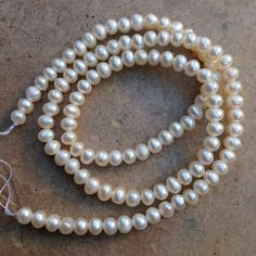Pearl Beads near round full  16 inch strand by marketplace beads Awesome bead shop!  www.marketplacebeads.etsy.com