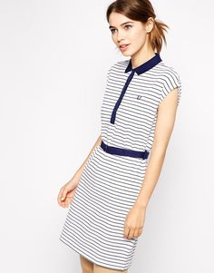 Fred Perry | Fred Perry Striped Polo Shirt Dress at ASOS